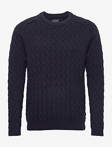 Jerry Sweater - basic-strickmode - dark blue