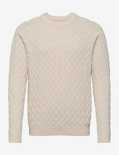 Jerry Sweater - basic strik - offwhite