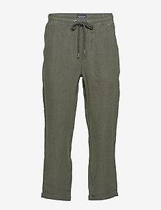 Hugh Linen Pants - casual broeken - green