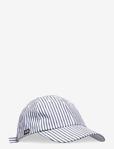 York Cap - lakit - blue/white stripe
