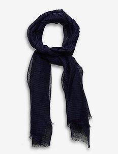 Jackson Scarf - huivit - dark blue/blue stripe