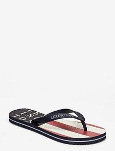 Orlando Flipflop - klapki - red/white stripe