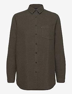 Isa Lt Flannel Shirt - overhemden met lange mouwen - brown melange