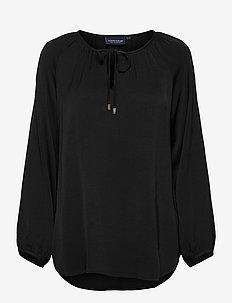 Diana Blouse - blouses med lange mouwen - black