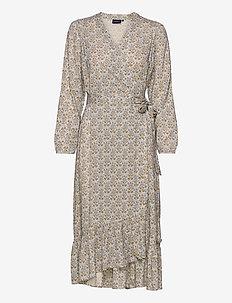 Louise Floral Print Wrap Dress - wickelkleider - floral print