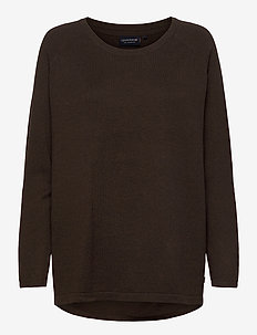 Lea Cotton/Cashmere Sweater - trøjer - brown melange