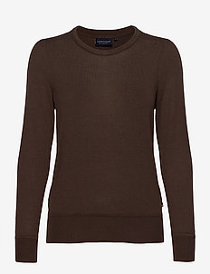 Yvette Cotton/Bamboo Sweater - neulepuserot - brown