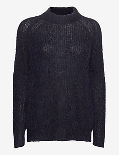 Siri Alpaca Blend Sweater - jumpers - dark blue