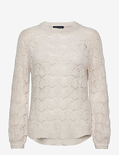 Bridget Wool Sweater - neulepuserot - offwhite