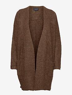 Jolene Alpaca Blend Cardigan - neuletakit - brown melange