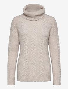 Susanne Alpaca Blend Cable Sweater - pulls à col roulé - offwhite