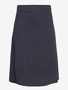 Chastity Cotton/Bamboo Knitted Skirt - midi - dark blue