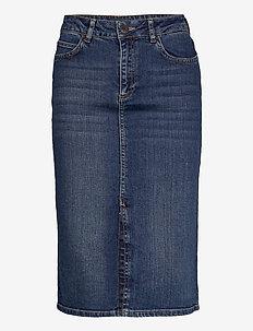 Millie Denim Skirt - denimnederdele - medium blue denim
