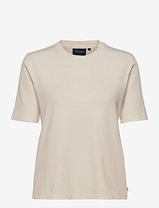 Rira Rib Tee - t-shirty - offwhite