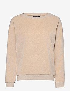Martha Velour Sweatshirt - sweats - light beige melange