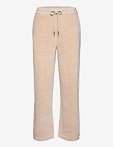 Leona Velour Pants - sweatpants - light beige melange