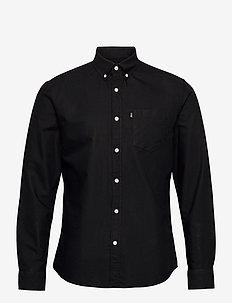 Kyle Organic Cotton Oxford Shirt - basic skjorter - black
