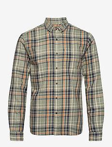 Peter Lt Flannel Checked Shirt - chemises à carreaux - green multi check