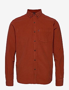 August Cord Shirt - avslappede skjorter - orange
