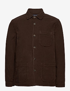 Robert Cord Overshirt - hauts - brown