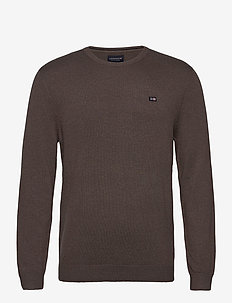 Bradley Organic Cotton Crew Neck Sweater - pulls col rond - brown melange