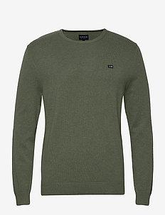 Bradley Organic Cotton Crew Neck Sweater - pulls col rond - green melange