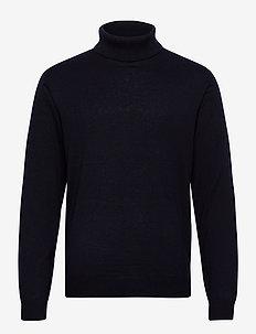Brian Cotton/Cashmere Roll Neck - basisstrikkeplagg - dark blue