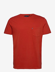 Travis Organic Cotton Tee - t-shirts basiques - orange