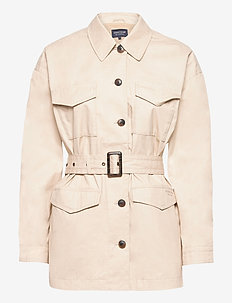 Raquel Waxed Cotton Jacket - utility jassen - beige