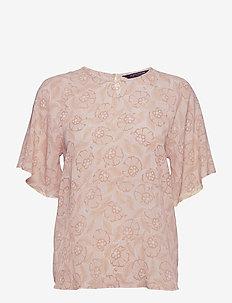 Vera Flower Top - blouses à manches courtes - flower print