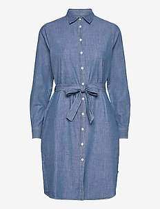 Isa Denim Shirt Dress - shirt dresses - lt blue denim