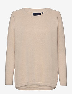 Lea Cotton/Cashmere Sweater - truien - light beige melange