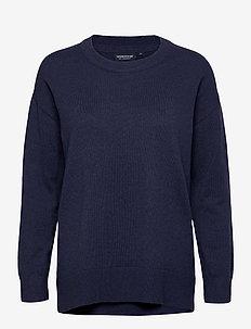 Lizzie Cotton/Cashmere Sweater - pulls - dark blue melange
