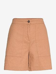 Juliana Linen Blend Shorts - chino short - brown