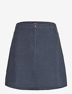 Stella Linen Skirt - jupes courtes - dark blue