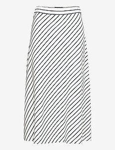 Brielle Skirt - jupes midi - white/blue stripe