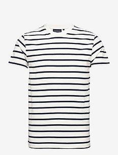 Ricky Organic Cotton Tee - lyhythihaiset - white/blue stripe