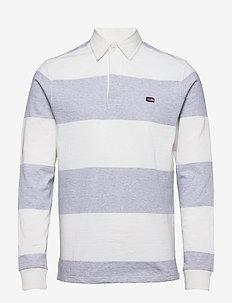 Theodore Rugby Shirt - pitkähihaiset - gray/white stripe