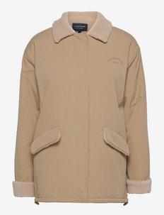 Kendra Sherpa Jacket - vestes en tissu peluche - beige