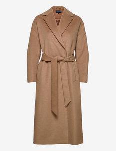 Katia Wool/Cashmere Blend Coat - manteaux en laine - beige