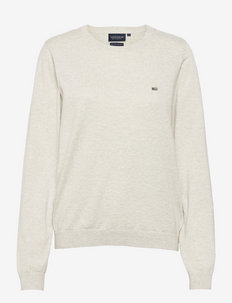 Marline Organic Cotton Sweater - truien - light grey melange