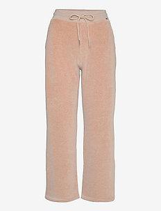 Leona Velour Pants - casual bukser - light brown melange