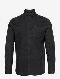 Peter Lt Flannel Shirt - basic-hemden - dark gray melange