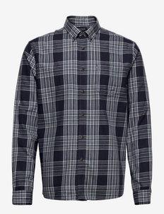 Peter Lt Flannel Checked Shirt - geruite overhemden - blue multi check