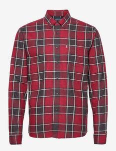 Peter Lt Flannel Checked Shirt - koszule w kratkę - red multi check