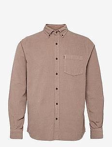 August Cord Shirt - podstawowe koszulki - brown