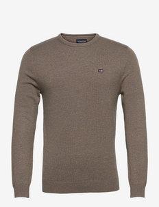 Bradley Organic Cotton Crew Neck Sweater - truien met ronde hals - brown melange