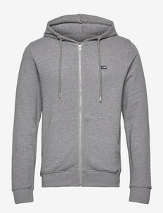 Sebastian Organic Cotton Hood - sweats à capuche - gray melange