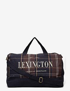 Franklin Organic Cotton Canvas Weekend Bag - treenikassit - dark blue multi check