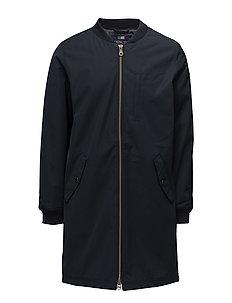 Edgar Bomber Coat - DEEP MARINE BLUE